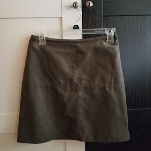 Atmosphere Olive Faux Suede Mini skirt size S/4